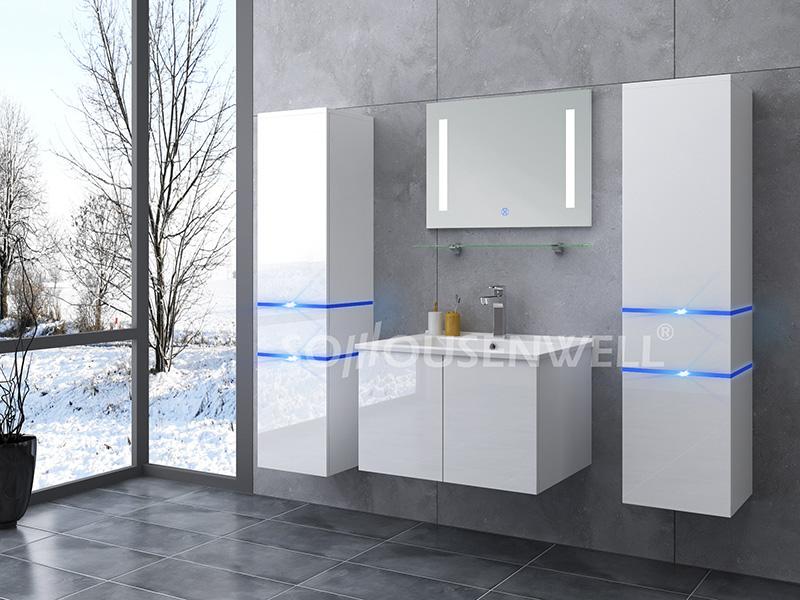 HS-E1904 White wooden MDF bathroom vanity wall modern bathroom cabinet