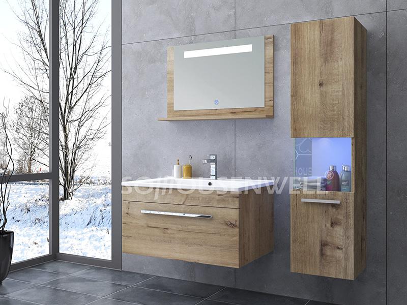 HS-E1910 Waterproof bathroom cabinet LED bathroom cabinet furniture set