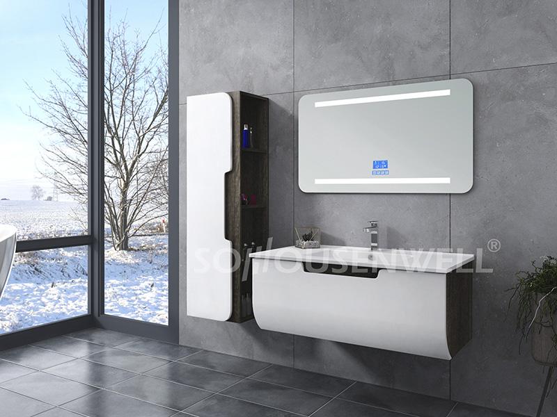 HS-E1936 Custom color bathroom cabinet mirror with LED