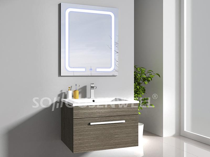 HS-E1943 Best selling white MDF bathroom cabinet wall hung bathroom vanity