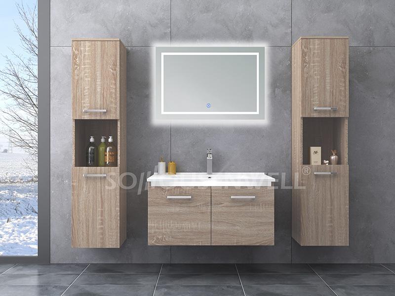 HS-E1947 New design modern bathroom mirror cabinet with washing basin