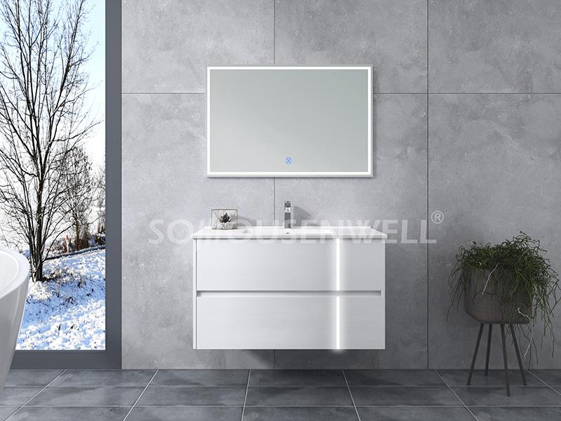 HS-E1960 New design hotel bathroom vanity cabinet with single basin