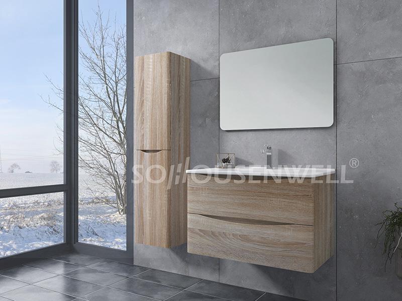 HS-E1972 Bathroom wall cabinets mirrors wood bathroom vanity