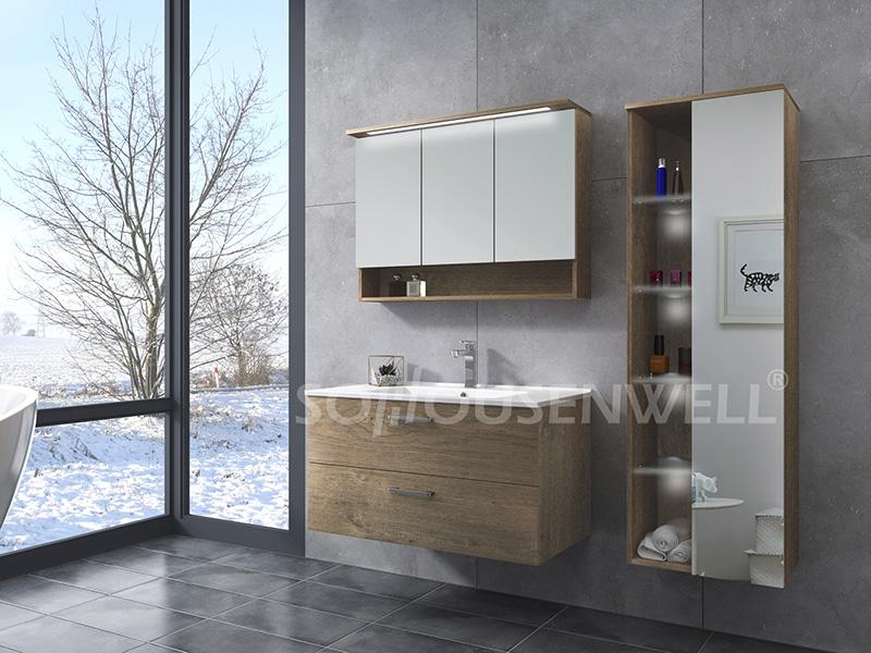 HS-E1975 Fashion design bathroom vanity classic hotel bathroom cabinet