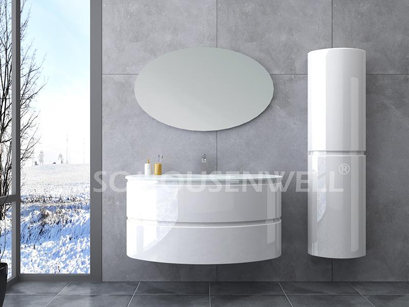 HS-E1981 Bathroom furniture set PVC bathroom cabinet modern bathroom vanity