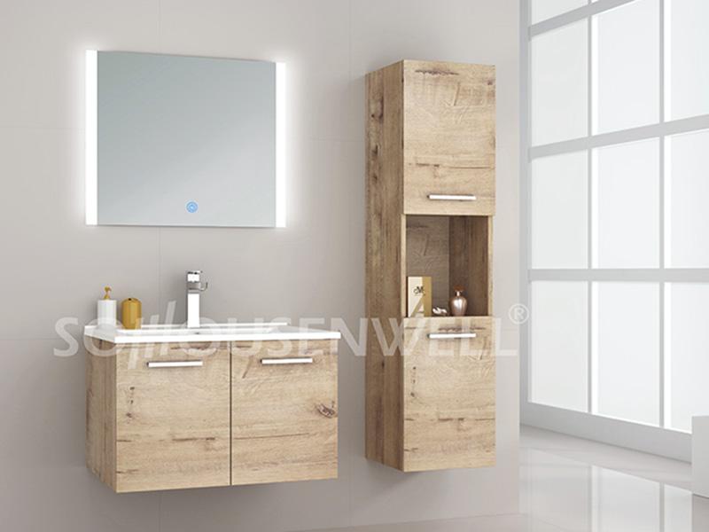 HS-E1984 Cheap new design bathroom vanity  LED bathroom mirror cabinet