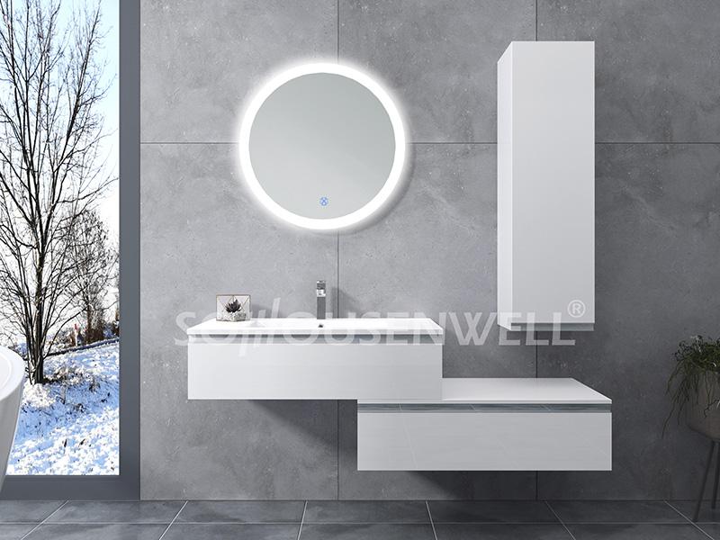 HS-E1986 Fashion design bathroom cabinet hotel vanity LED lighted bathroom mirror