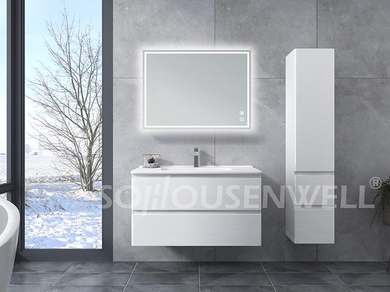 HS-E1989 New design bathroom vanity cabinets luxury bathroom cabinet with sink