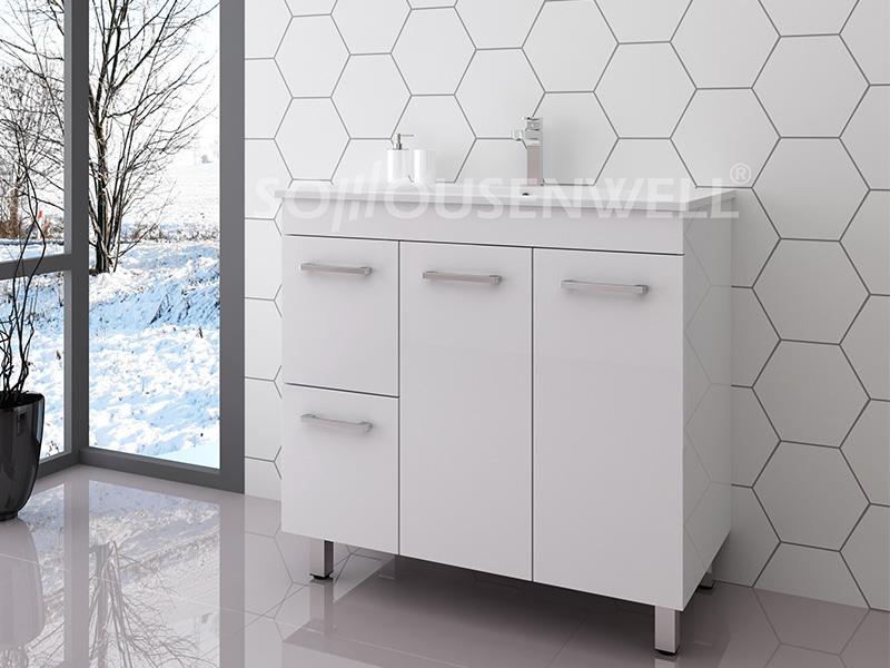 Ema-900 Toilet storage luxury bathroom vanity with sink modern bathroom cabinet
