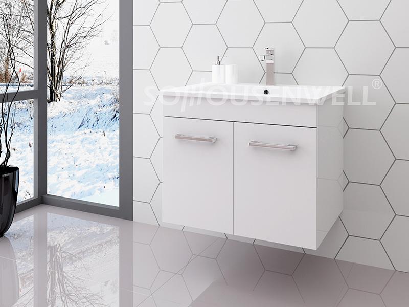 Luc-600 Wooden bathroom vanity white bathroom vanity set bathroom cabinet