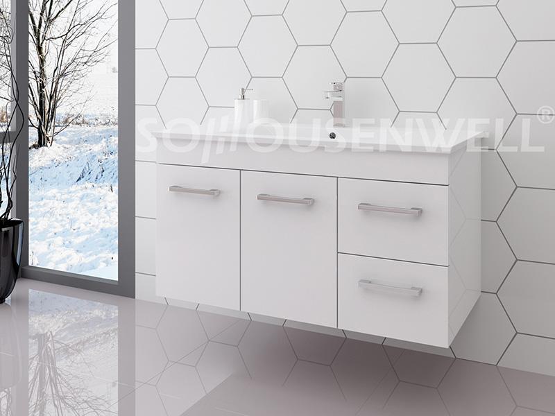 Luc-900 Wooden bathroom vanity white bathroom vanity set bathroom cabinet