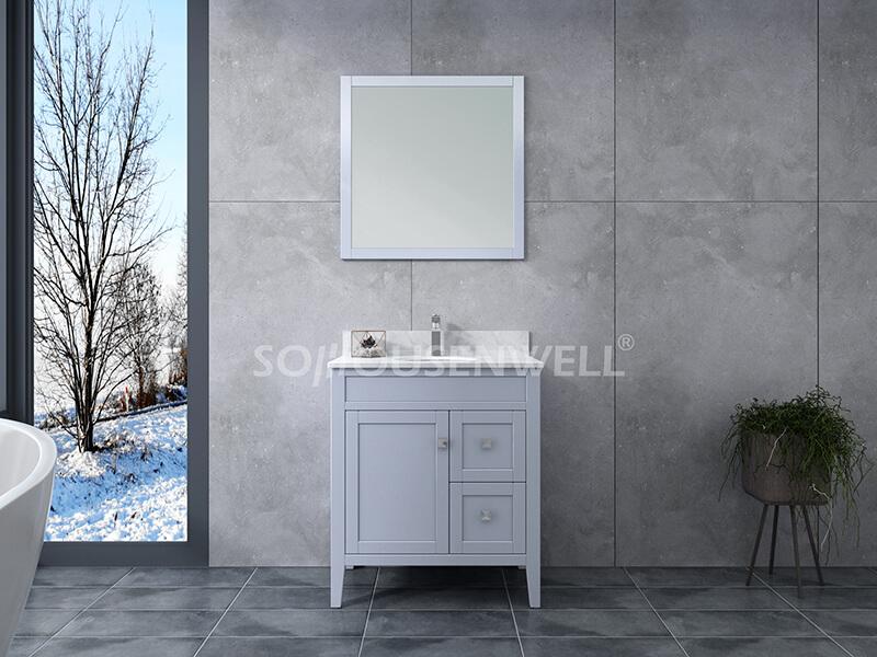Sam-750S Bathroom cabinet solid wood vanity bathroom vanity toilets furniture